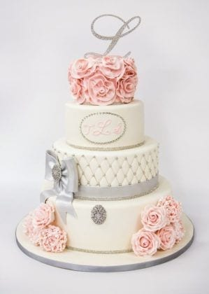 NJ Weddings-Carlos Bakery-White Wedding Cake