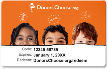 Donors Choose Gift Card