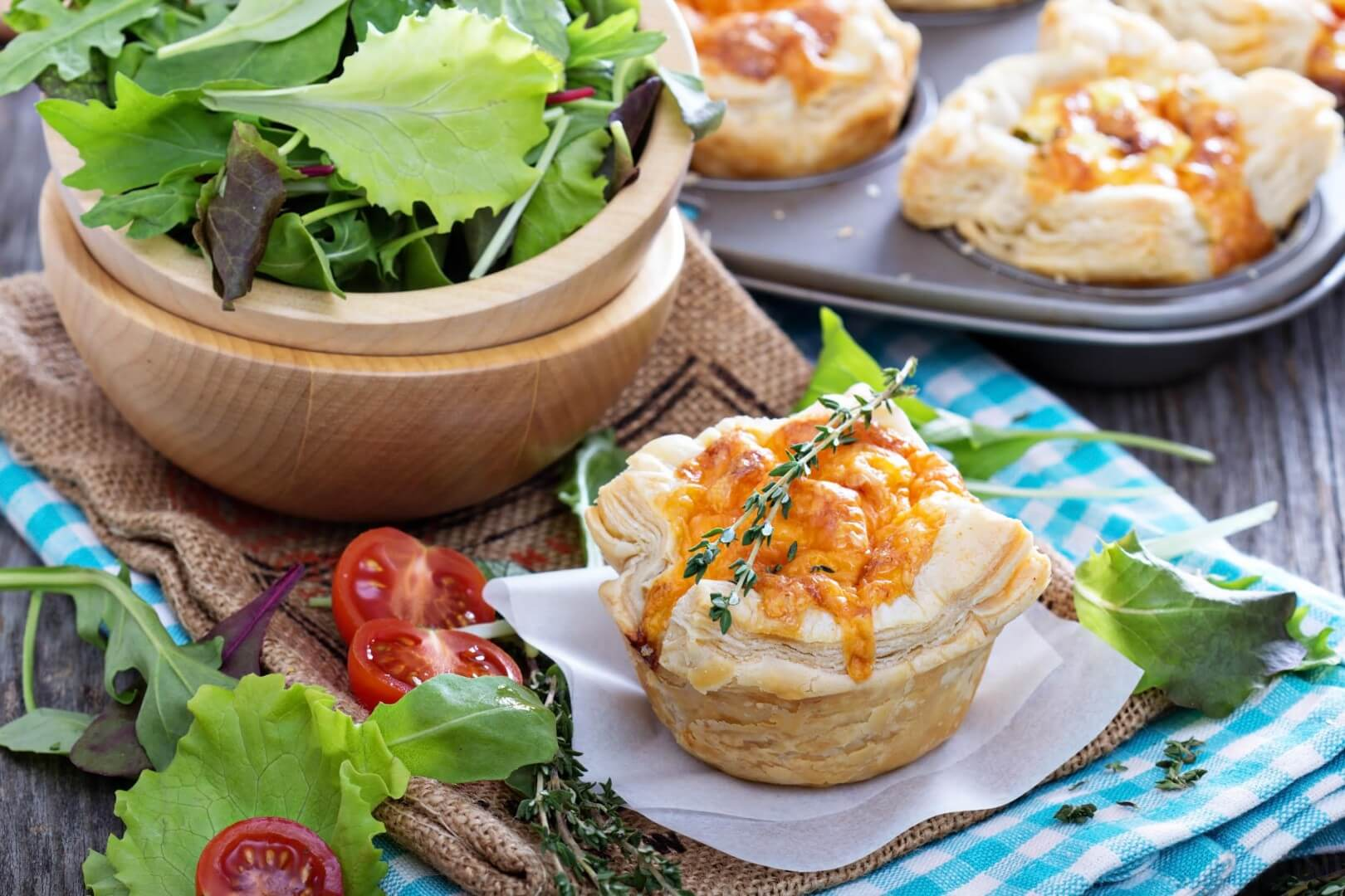 Brie and Chutney Tarts