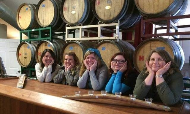 bachelorette party wine tasting