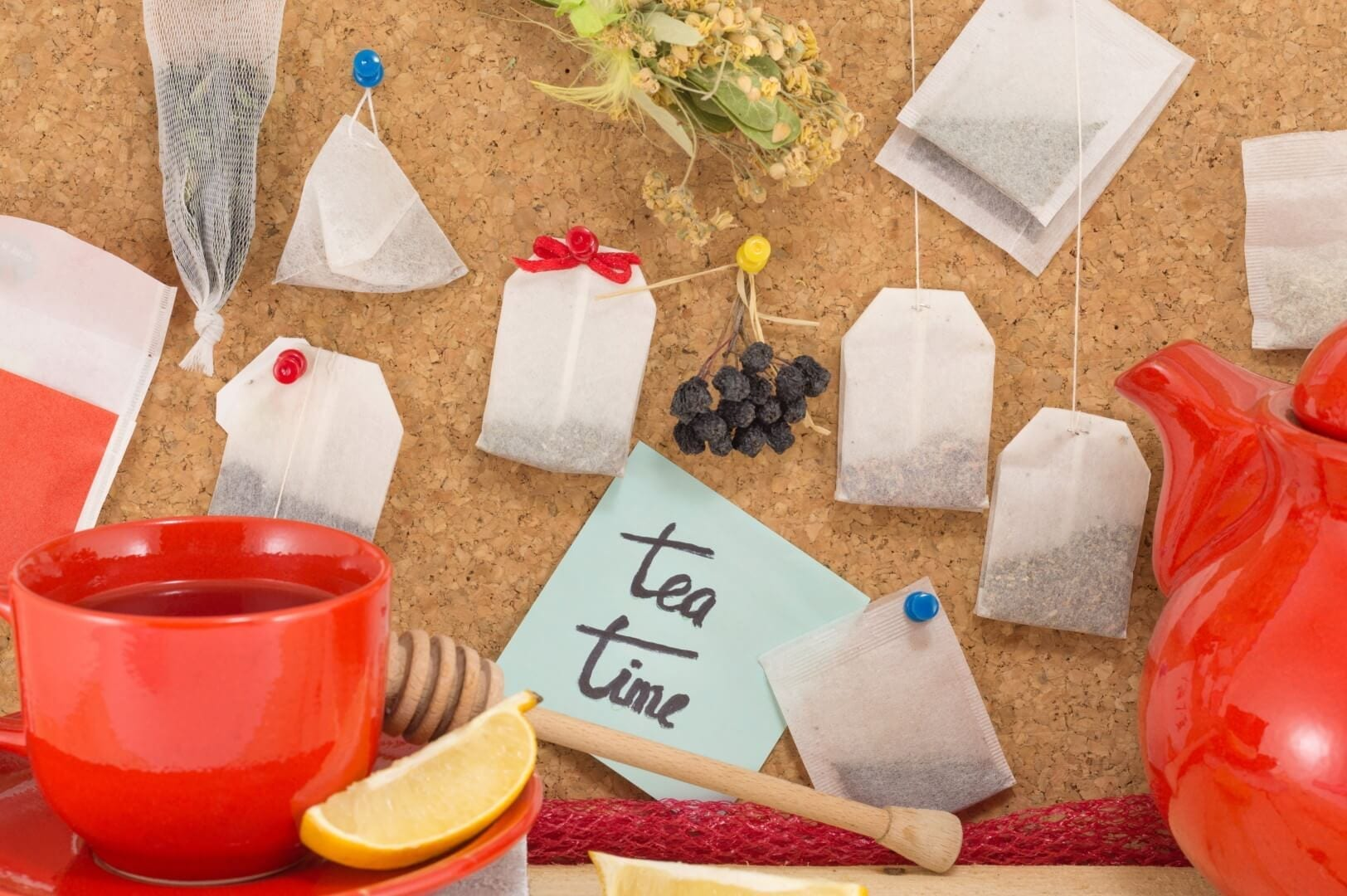 stock photo of tea bags