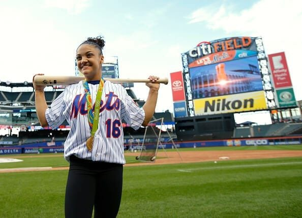 Laurie Hernandez at Citi Field