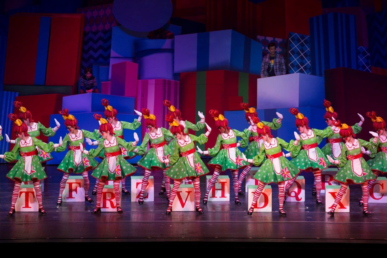 """The Rockettes performing their """"Rag Dolls"""" number at Radio City Music Hall"""