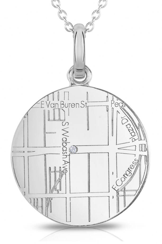 necklace with map engraving