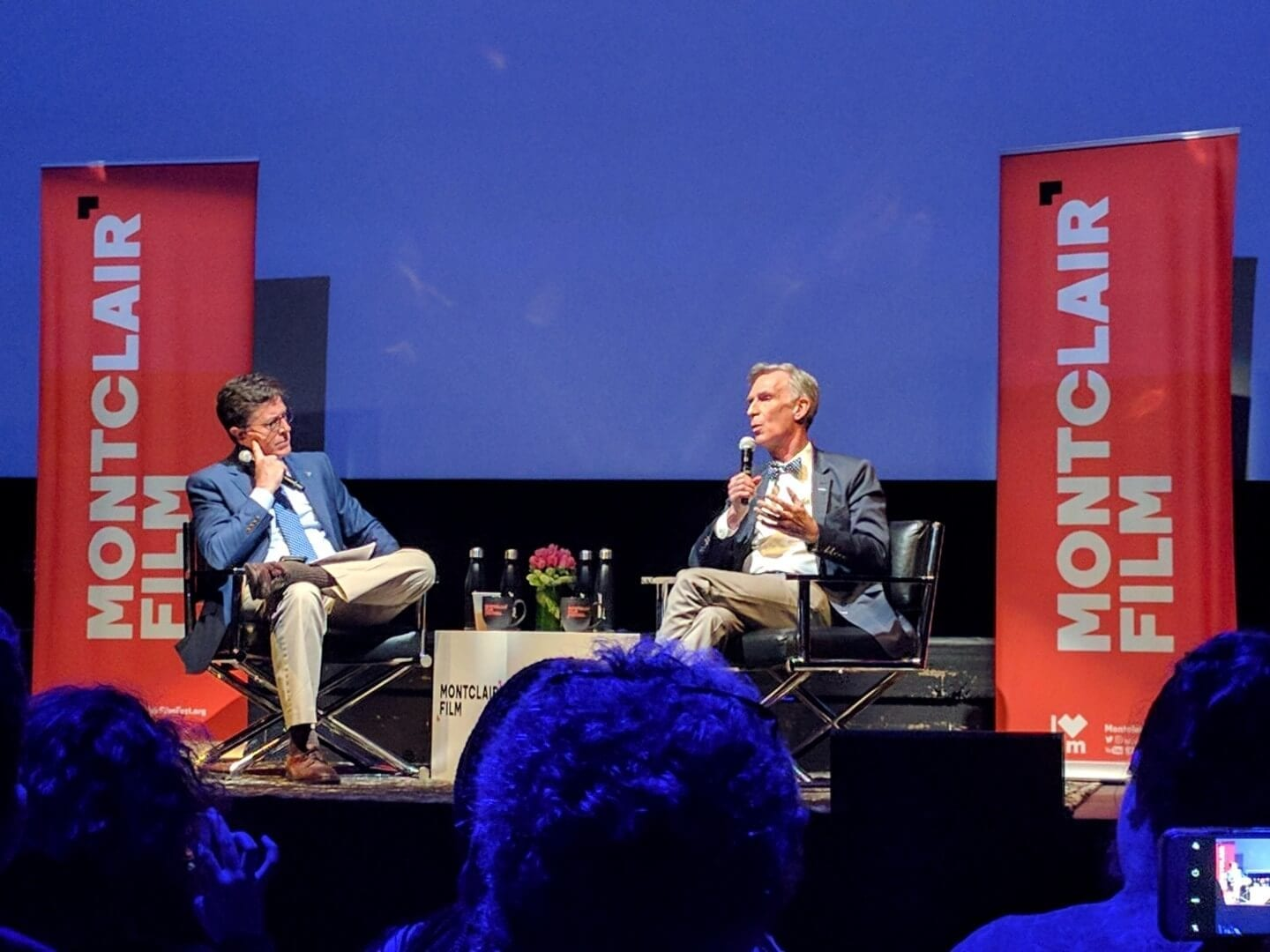 Bill Nye and Stephen Colbert On Stage