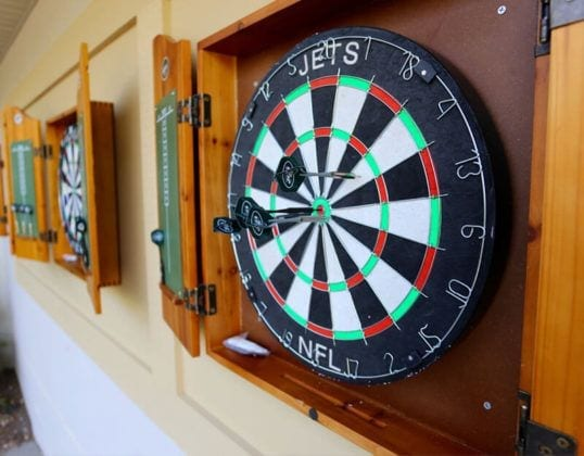 Outdoor Dart Board at Bear Den Grille