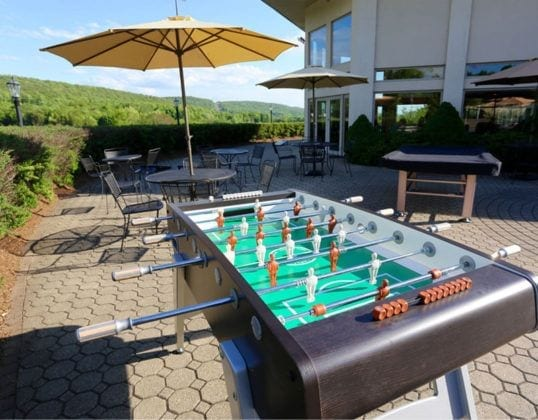 Foosball table at Bear Den Grille