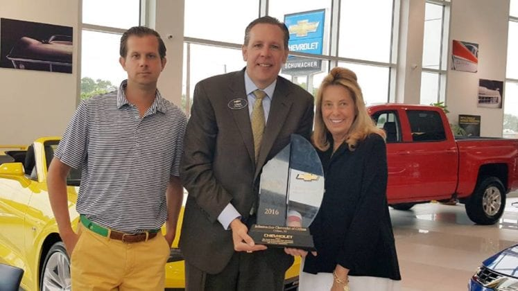 Schumacher Chevrolet Winning Award