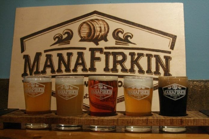 manafirkin brewing photo of beer samples