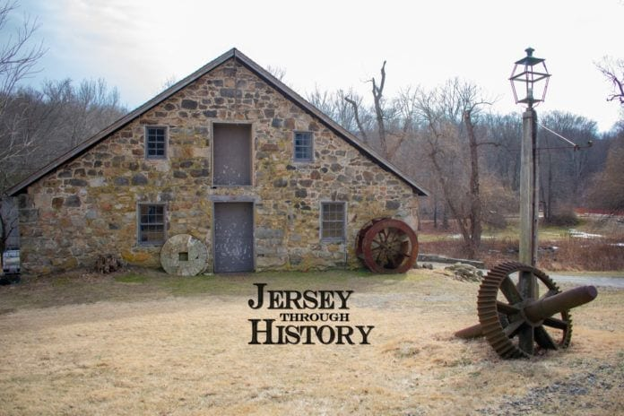 Photo of Waterloo Village with Jersey Through History Logo