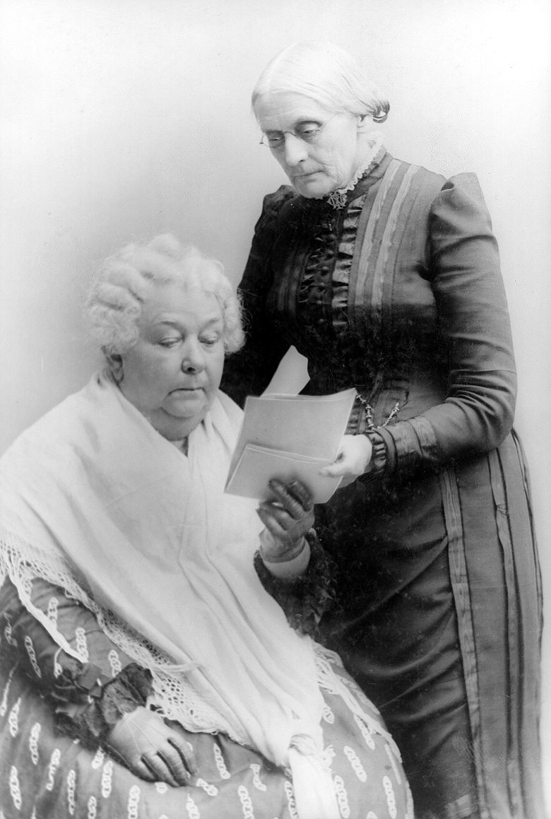 Portrait of Elizabeth Cady Stanton and Susan B. Anthony