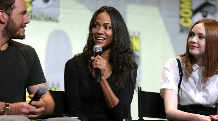 Zoe Saldana at San Diego Comic Con