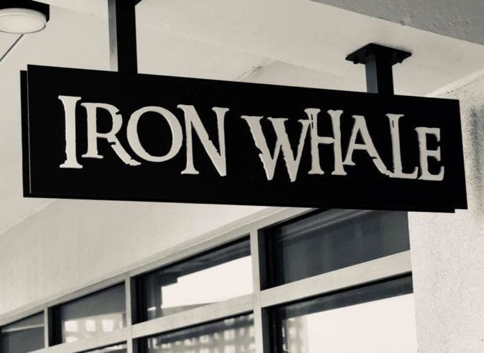 Iron Whale Exterior Sign