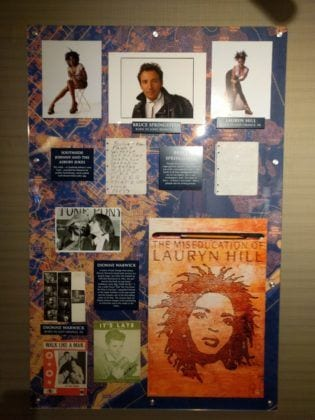 Collection of items featuring Bruce Springsteen, Southside Johnny and the Asbury Jukes, Lauryn Hill, and Dionne Warwick,
