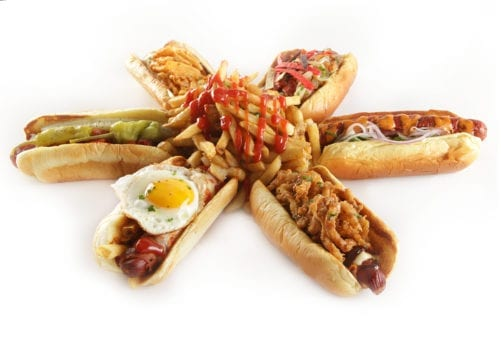 Hot Dog Display of Specialty Menu Items