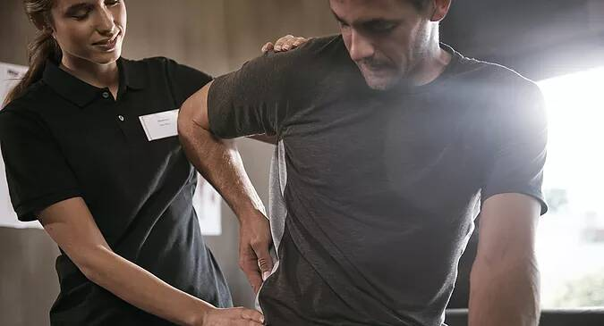 Carroll Physical Therapy patient working on back issue