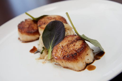 Seared Scallops from Cafe Chameleon