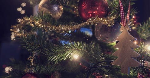 Christmas decoration on tree