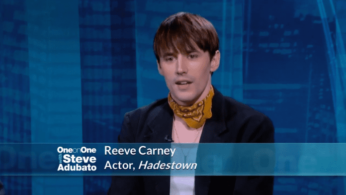 Actor Reeve Carney from the Broadway Musical, Hadestown