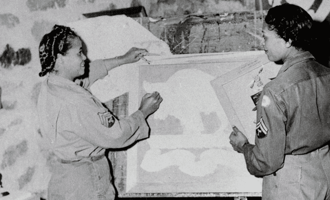 Women's Army Auxiliary Corps Painting
