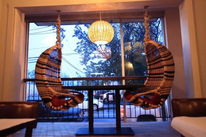 Image of Hanging Chairs in Restaurant
