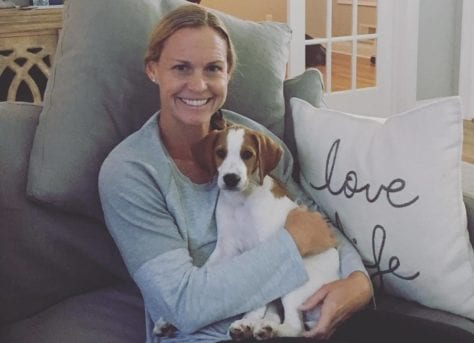 Christie Pearce with Puppy