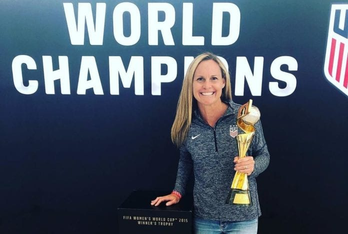 Christie Pearce with Trophy