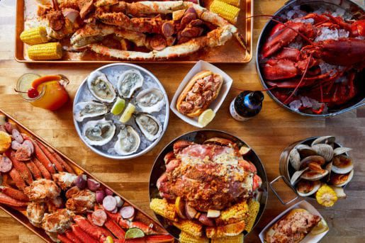 Menu Sample Platter from The Boil in Jersey City