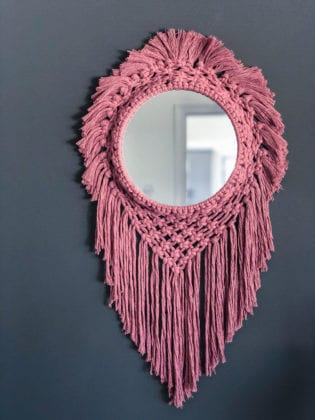 Mirror Art from Woven+Tied