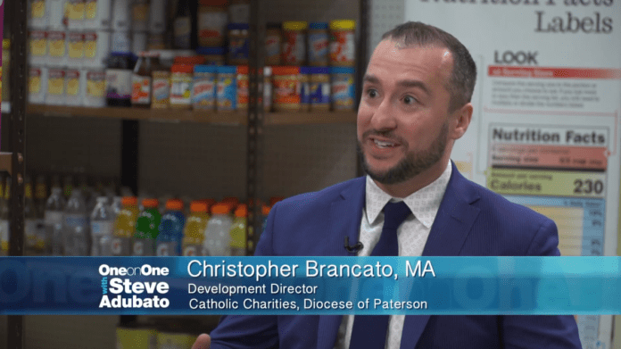Steve Adubato on Location at Father English Food Pantry