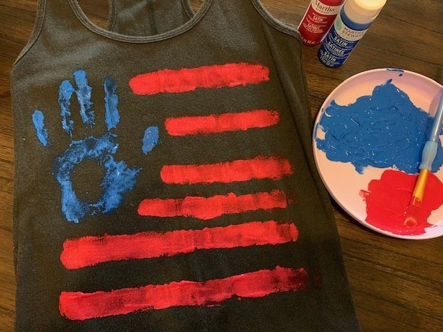 American Flag Tshirt Craft