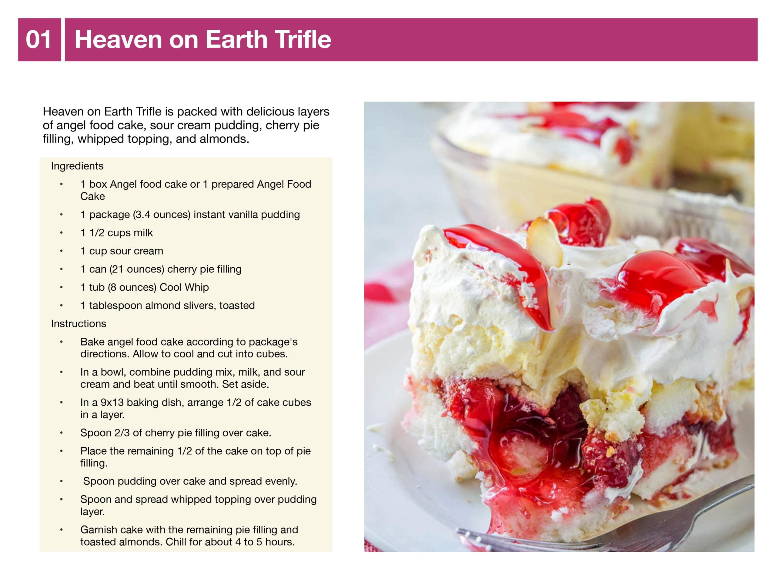 Heaven on Earth Trifle Recipe