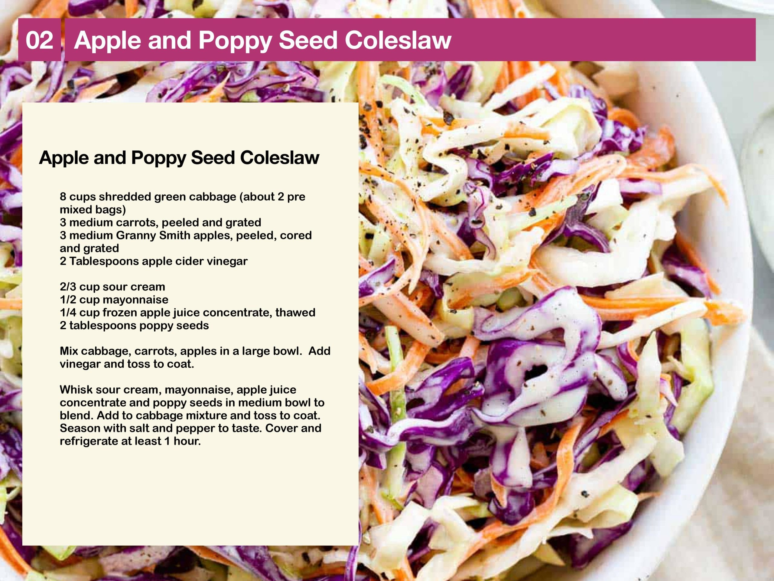 Apple and Poppy Seed Coleslaw Recipe