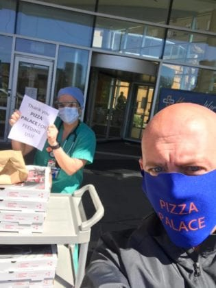 Pizza Palace Delivering Meal Donation to St. Joseph's Regional Medical Center
