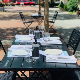 Outdoor Seating at Valente's Cucina