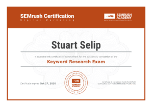 keyword research exam certification