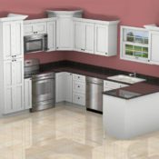 3D color computer design of your new dream kitchen - see it before you buy it!